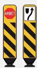 Arret avertissement danger route panneau routier