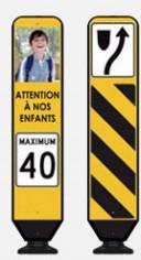 Attention à nos enfants limite de vitesse