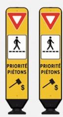Priorité piétons panneau routier amende