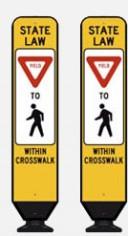 Yield to pedestrians within crosswalk